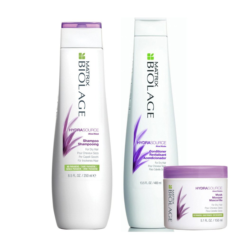 Kit Biolage Hydrasource Shampoo + Acondicionador x 400 Ml + Máscara x 150 Ml - Matrix - comprar online