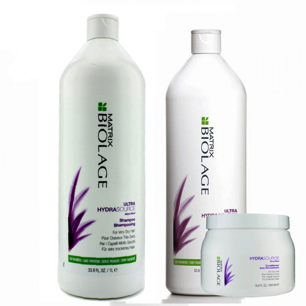 Kit Biolage Hydrasource Shampoo + Acondicionador x 1000 Ml + Máscara x 500 Ml - Matrix - comprar online