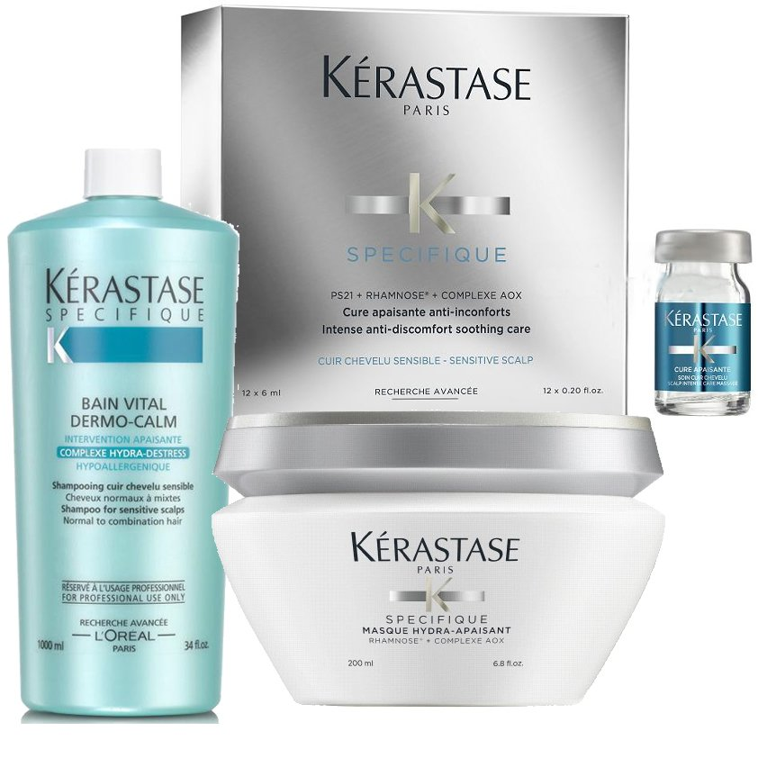 Shampoo 1000 ml + Mascara + 12 ampollas Cabello sensible - Kerastase