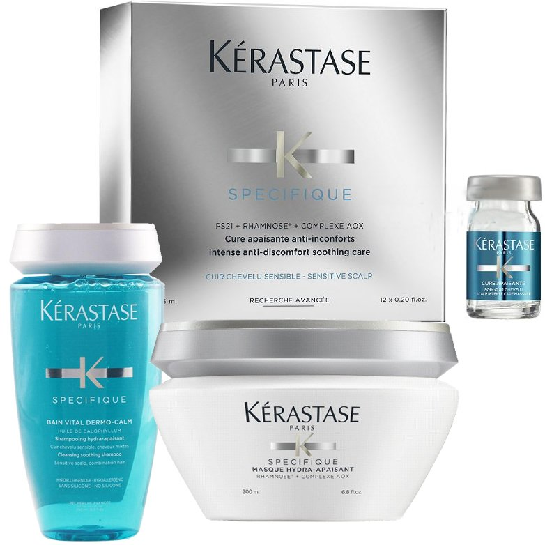 Shampoo 250 ml + Mascara + 12 ampollas Cabello sensible - Kerastase