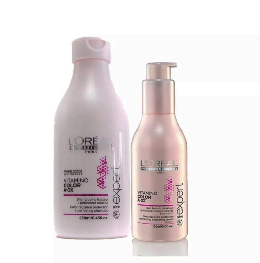 Shampoo x 250 Ml + Crema Peinado S/Enjuague x 150 Ml Vitamino Color - Loreal Professionnel