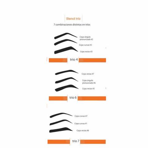 Stencils para maquillar y depilar cejas for Sillas para maquillar