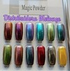 Brillo espejo  para uñas - En pote con aplicador - 12 colores diferentes - Magic Mirror Powder