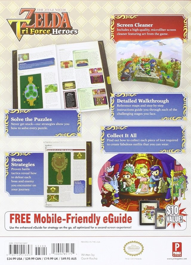 Libro:The Legend of Zelda: Tri Force Heroes Collector's Edition Guide - comprar online