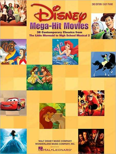Libro: Disney Mega-Hit Movies: 38 Contemporary Classics from The Little Mermaid to High School Musical 2 ( Easy Piano)