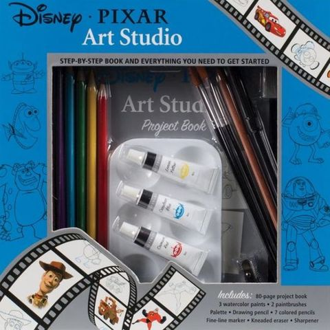 Libro: Disney-Pixar Art Studio: Step by Step Book and Everything You Need to Get Started