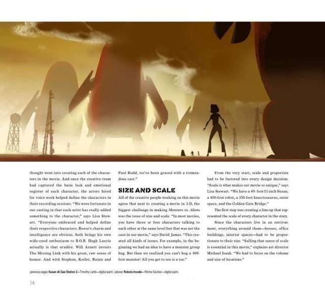 Imagen de Libro: The Art of Monsters vs. Aliens