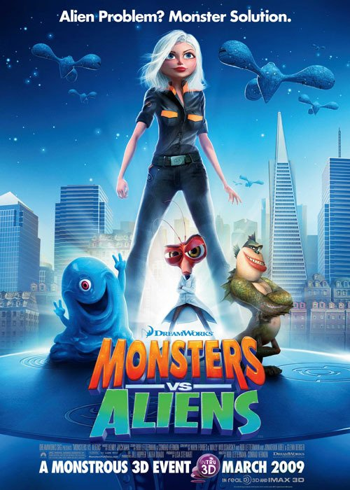 Poster Original Cine Monsters vs Aliens - comprar online