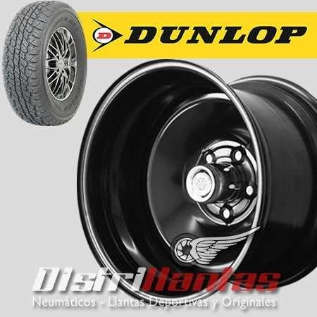 Kit 4 Llantas Italbo custom R15 X10 - 5X139/114 + Dunlop Grandtrek AT1 32X11,5 R15 - Distrillantas