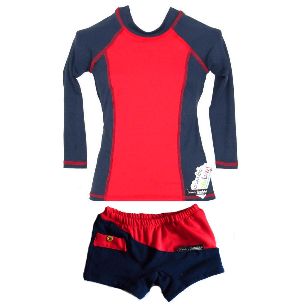 Conjunto Blusa UV Infantil Manga Longa e Sunga Dry com Proteção Solar c7d2545c1aa