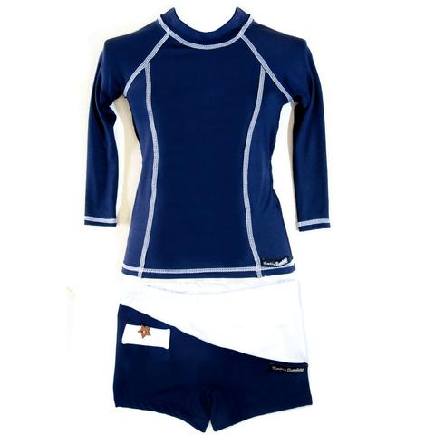 Blusa Infantil Manga Longa Dry com Proteção UV Solar Azul Marinho fea7786be94