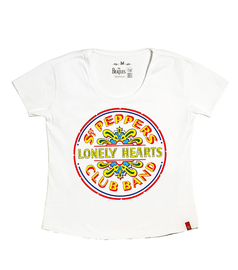 Camiseta VSR The Beatles Sgt. Peppers - Feminino Comfort Branco