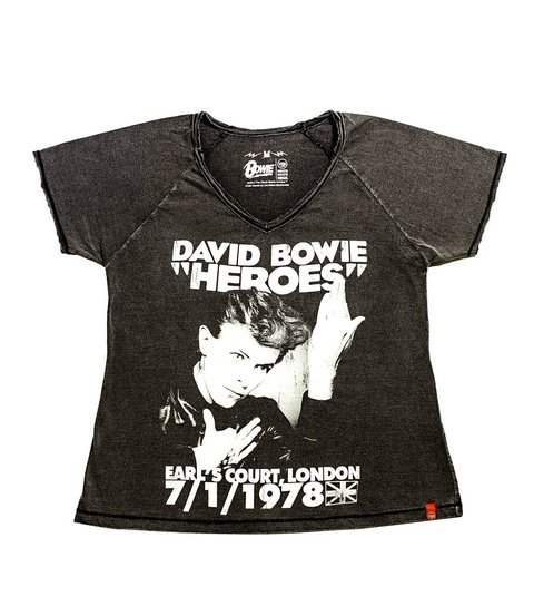 Camiseta VSR David Bowie Heroes 1978 Tour - Feminino Ed Ltd.