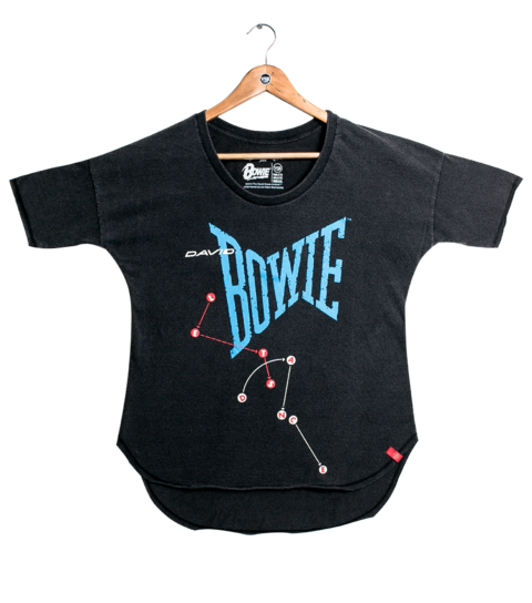Camiseta VSR David Bowie Let's Dance - Feminino Oversized