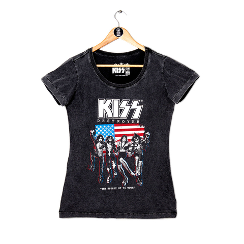 Camiseta VSR Kiss Destroyer - Feminino Slim