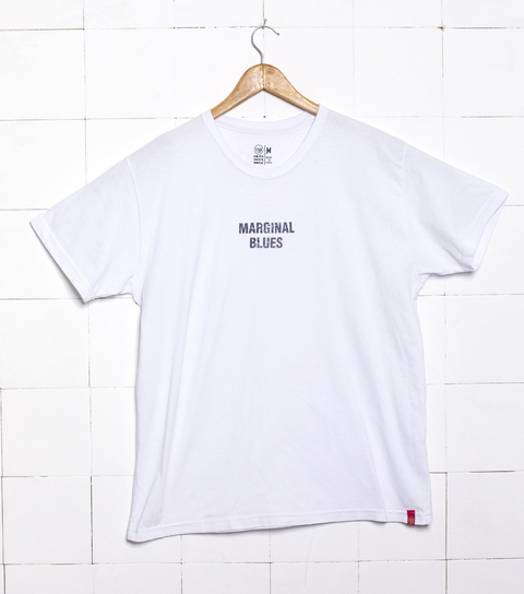 Camiseta VSR Marginal Blues Branco Vintage