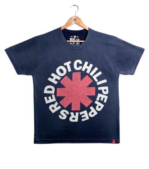 Camiseta VSR Red Hot Chili Peppers Logo Azul Marinho