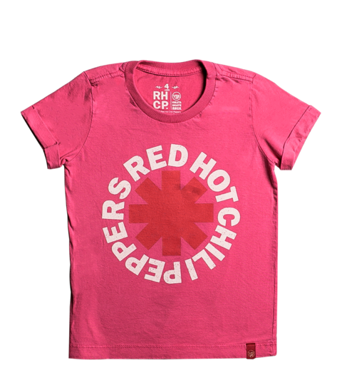 Camiseta VSR Red Hot Chili Peppers Logo - Infantil Rosa