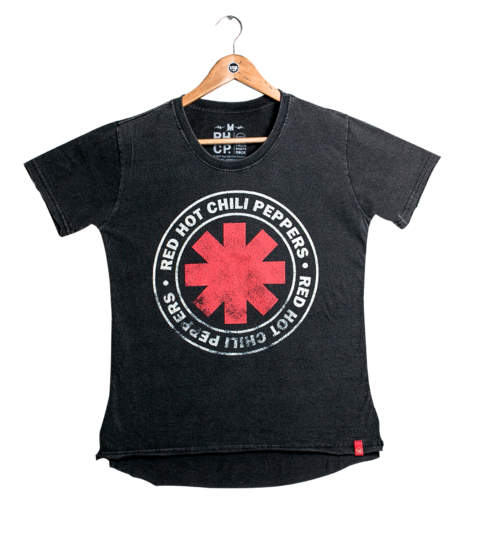 Camiseta VSR Red Hot Chili Peppers Logo Seal - Feminino Oversized