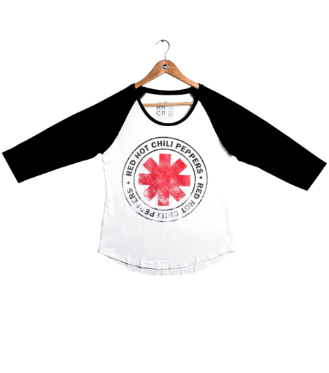 Camiseta VSR Red Hot Chili Peppers Logo Seal - Feminino Raglan