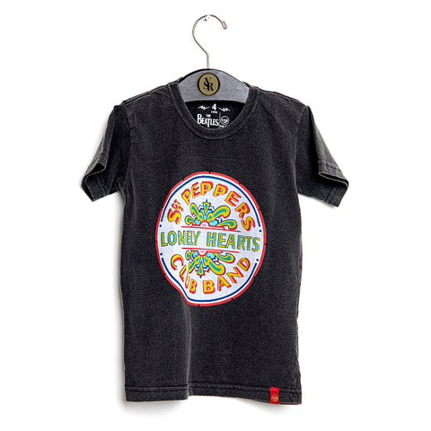 Camiseta VSR The Beatles Sgt. Peppers - Infantil Preto Estonado