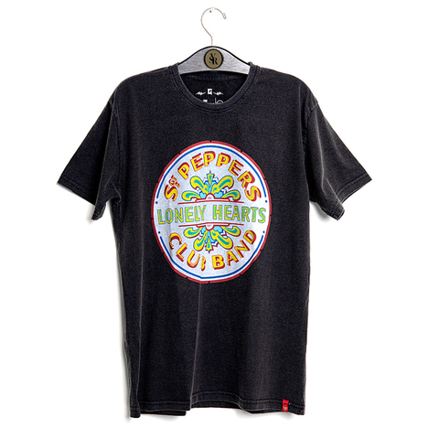 Camiseta VSR The Beatles Sgt. Peppers Preto Estonado