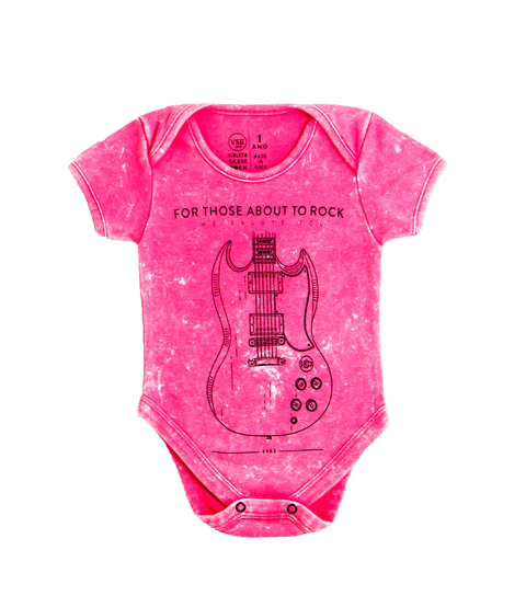 Body Bebê VSR For Those About To Rock Rosa Estonado