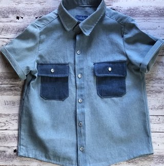 Camisa Double Denim manga corta