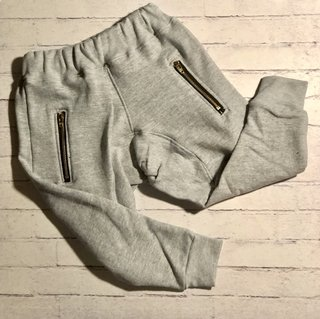 Jogging Babucha Zipper Grey