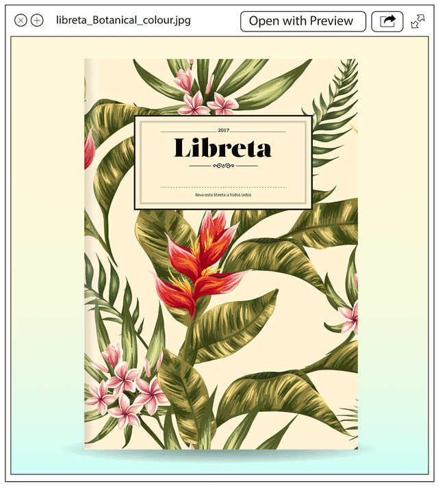 Libreta Botanical Colour