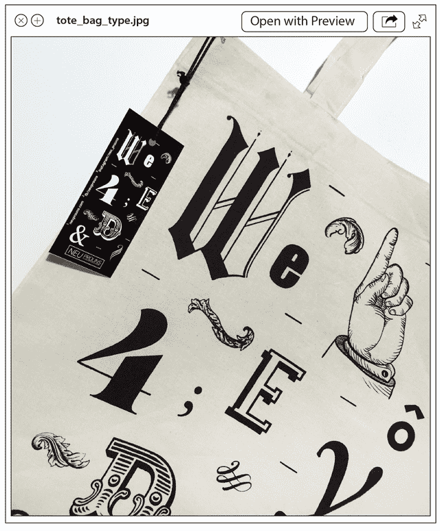 Tote Bag Type en internet
