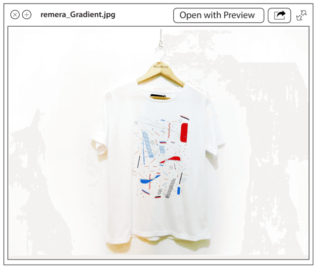Remera Gradient en internet