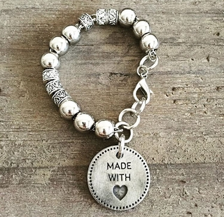 Pulsera Made With Love Round