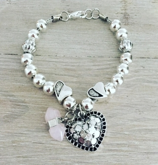Pulsera Heart Quartz
