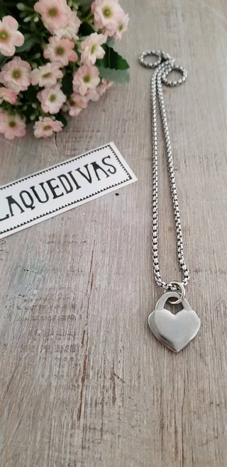 Collar Heart Acero
