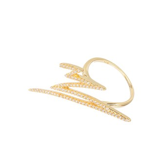 Ray Ring - Sterling silver gold plated with crystals - buy online