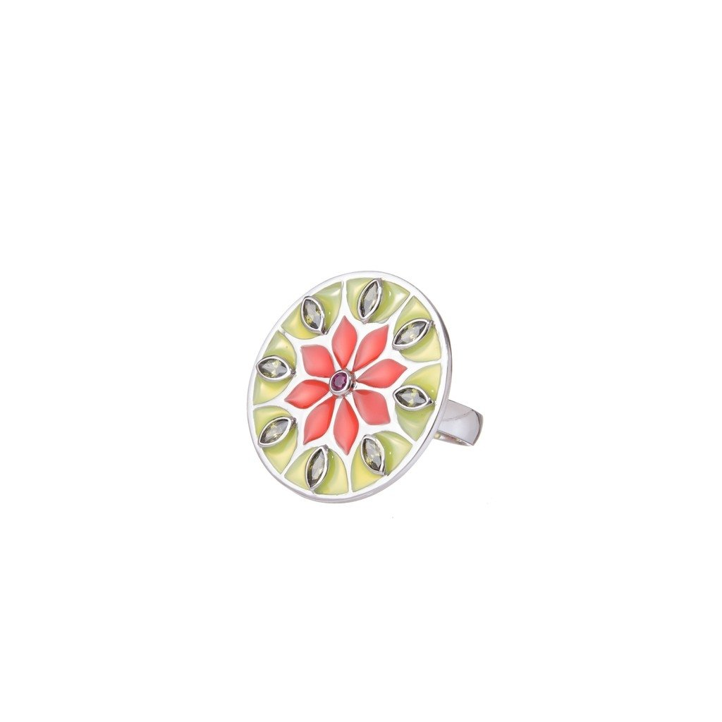 Green Citric Sunflower Indie Ring