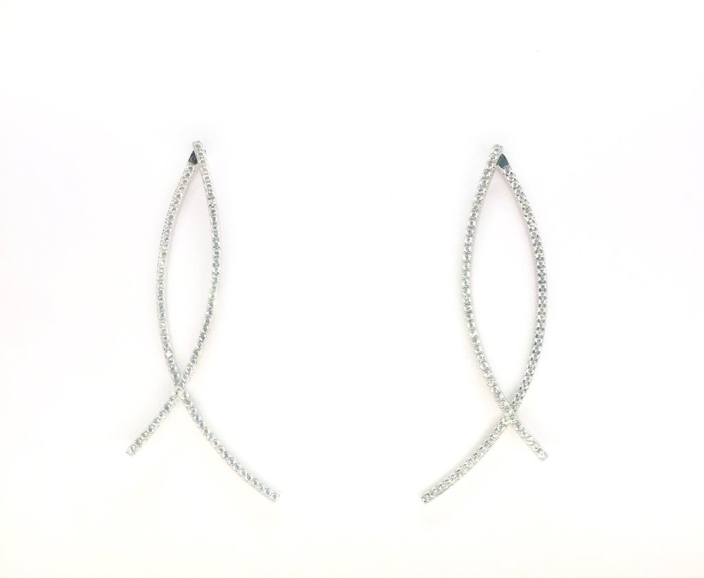 Crossed Earrings