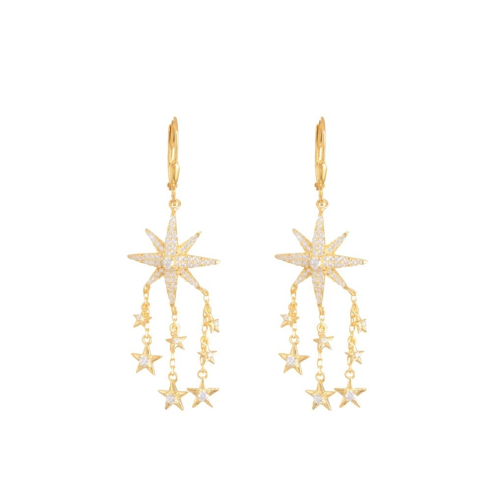 Starred Earrings gold plated