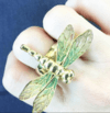 Gold Dragonfly Ring - Oleana