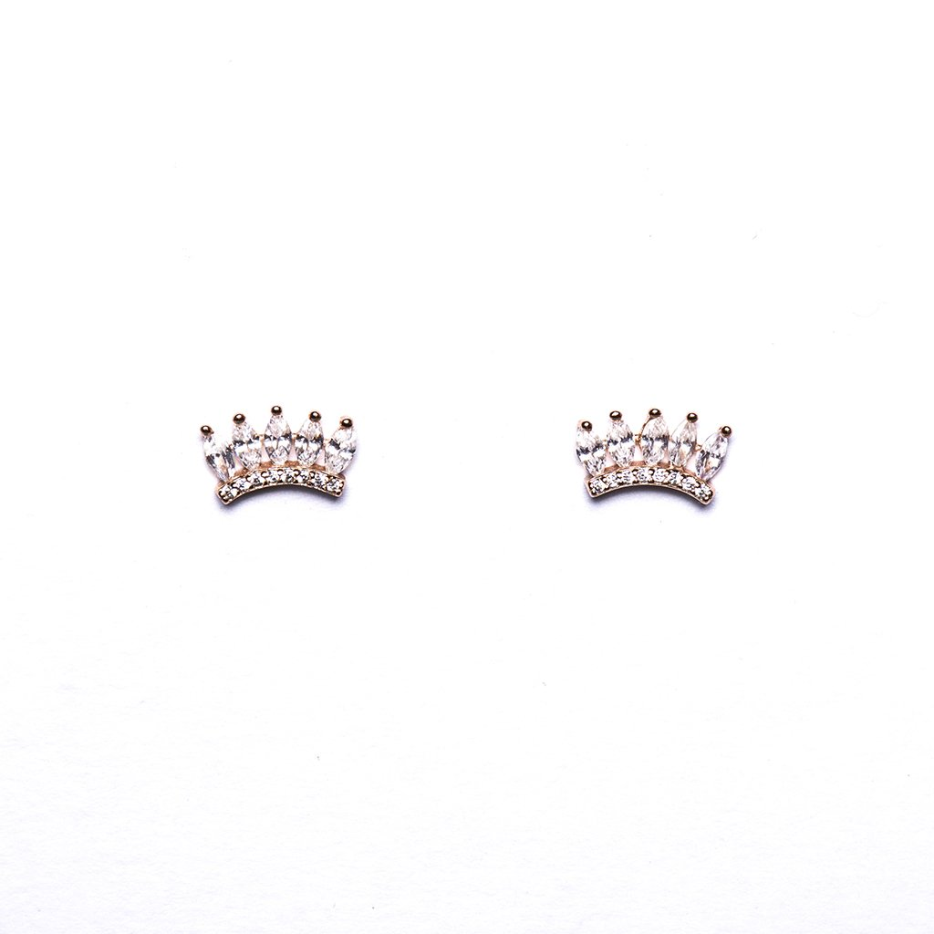 Pink Crown Earrings