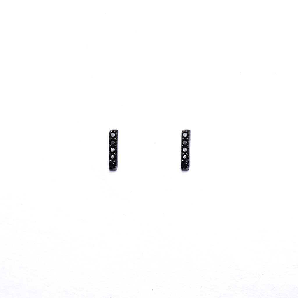 Black Bar Earrings