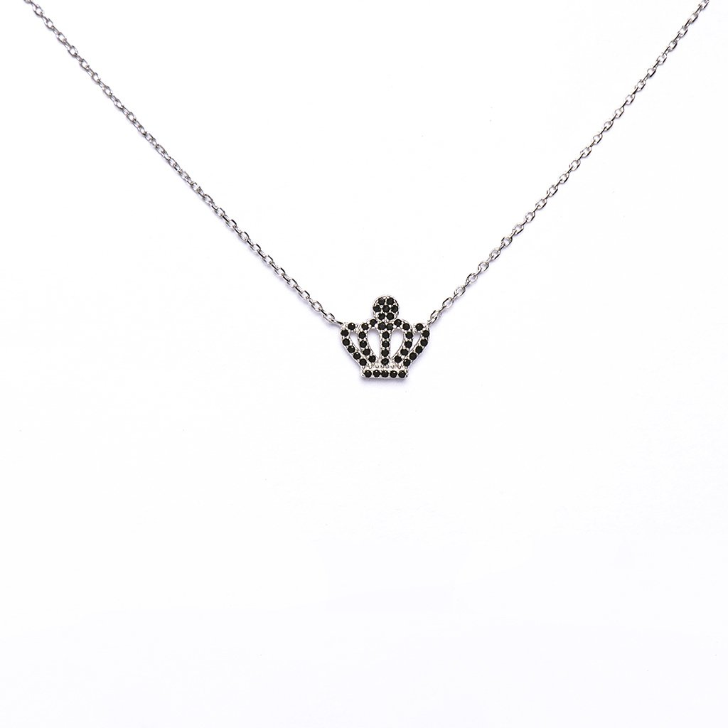 Black Crown Pendant