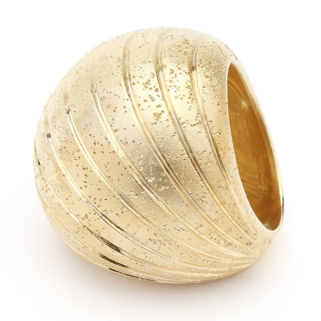 Gold Plated Big Sphere Ring