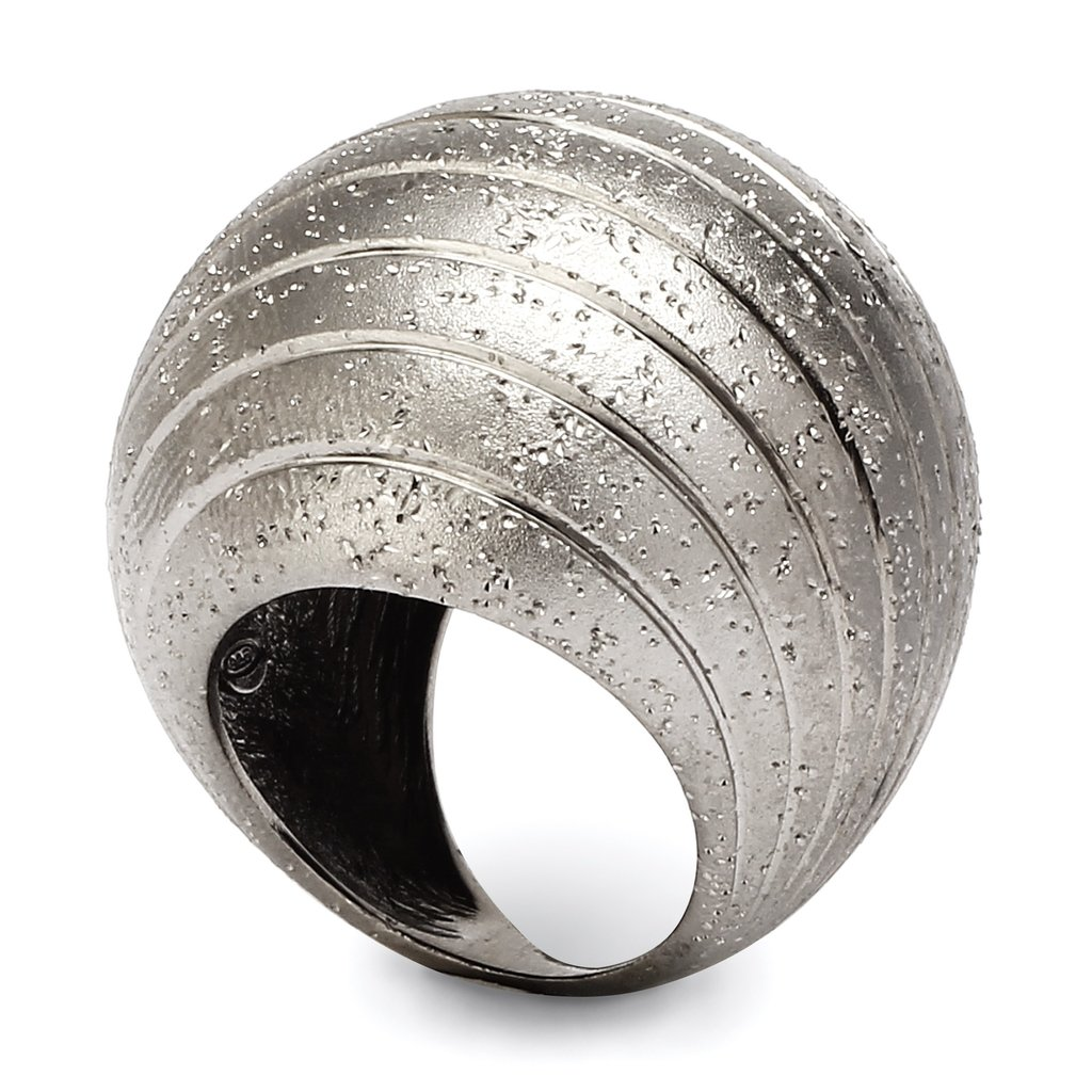 Sterling Silver Cracked Sphere Ring
