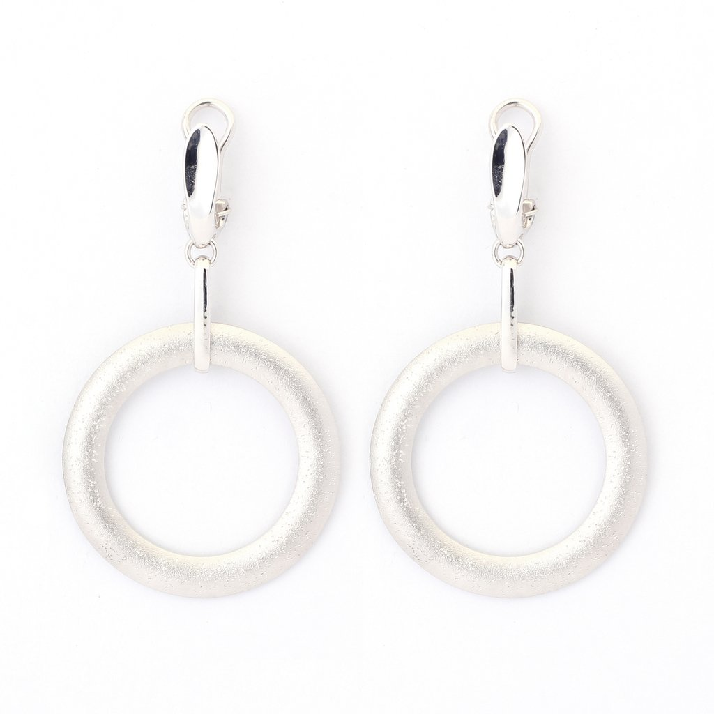 Lunar Saturn Earrings in Sterling Silver