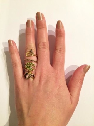 Large Gold Orchid Ring on internet