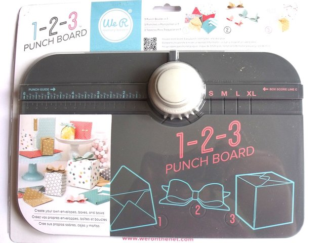 1-2-3 Punch Board - We R Memory Keepers Blanca menta