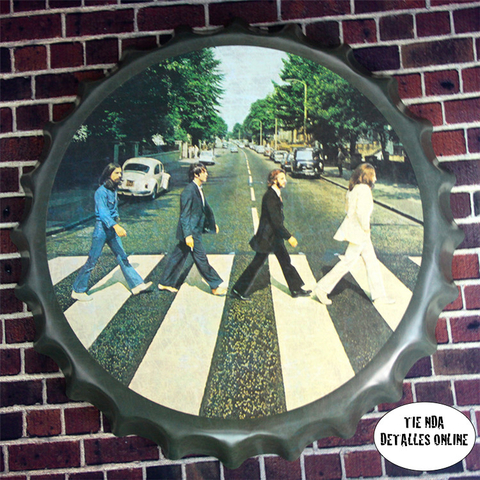 Chapa Bar The Beatles Gigante Metálica 45 cm