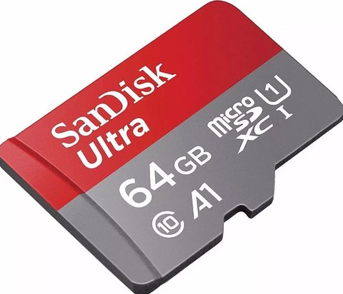 Memoria Micro Sd Sandisk 64gb Ultra 100mb/s Xc A1